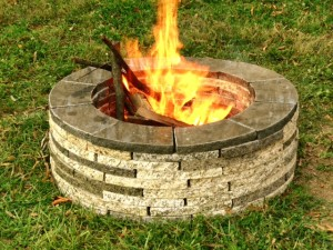 Recycled Granite Pavers Raleigh NC Fire Pit